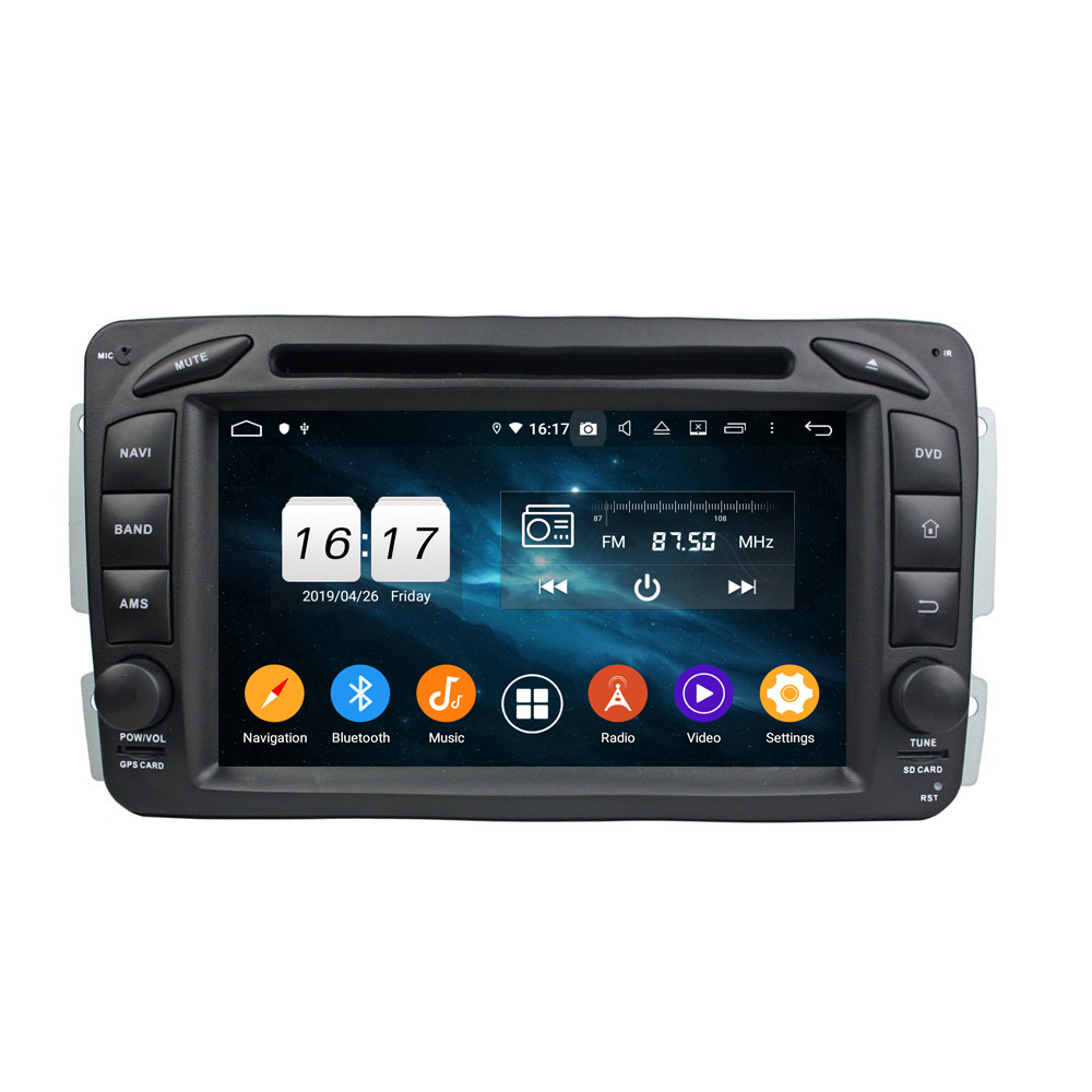 KD-7216 Android 9.0 built in DSP with button car dvd player for ML <strong>W163</strong> (2002-2005)