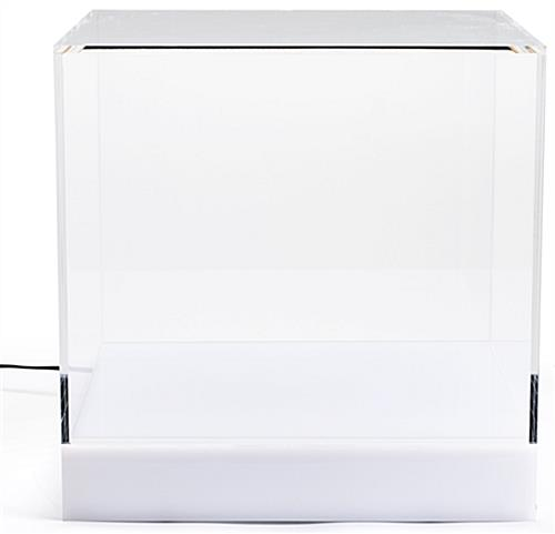 <strong>12</strong> <strong>x</strong> <strong>12</strong> Countertop Display Case <strong>w</strong>/ <strong>16</strong>-Color LED Base Acrylic Lift-Off Top - Clear