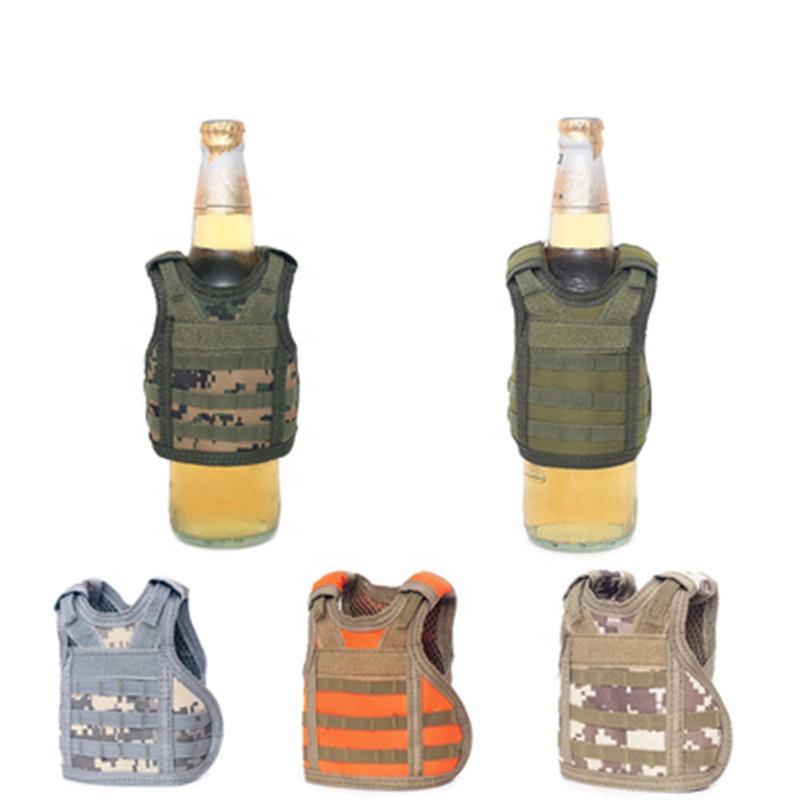 Mini Adjustable Beer Soda Bottle Beverage Insulator Tactical Vest Koozie Vest