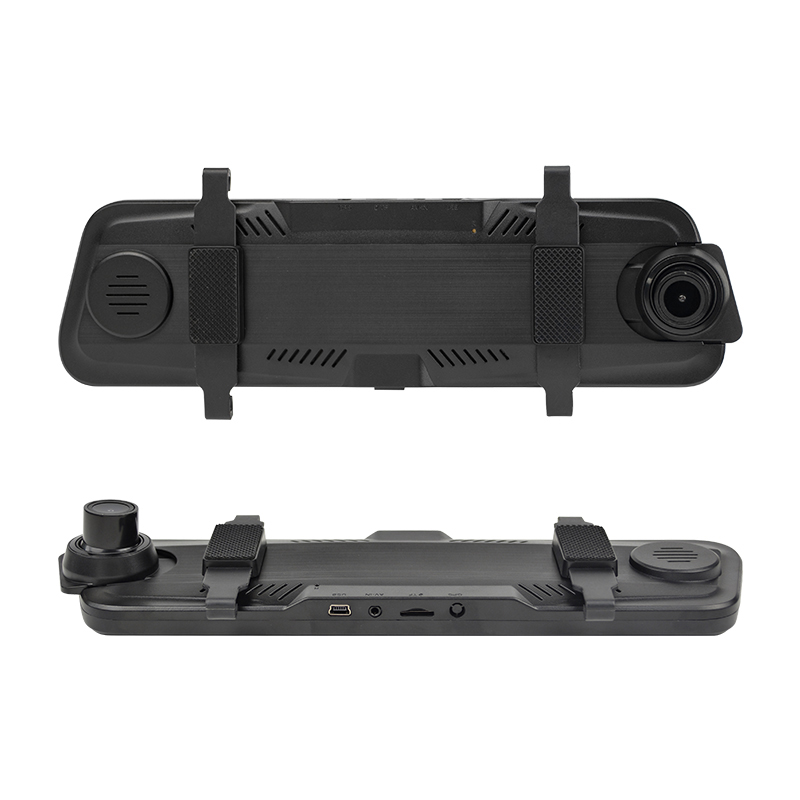 Night Vision 1080P 170 degree Wide Angle Lens G-sensor Dual Lens 9.66 Touch Screen Car Rearview Mirror <strong>Camera</strong>