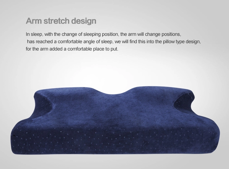 Memory Foam Pillow, Orthopedic Contour Cervical Sleeping Pillow for Neck Pain, Bed Pillow for Side Sleepers
