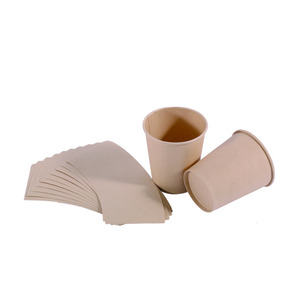 nature color bamboo paper cup board renewable material for tea cup