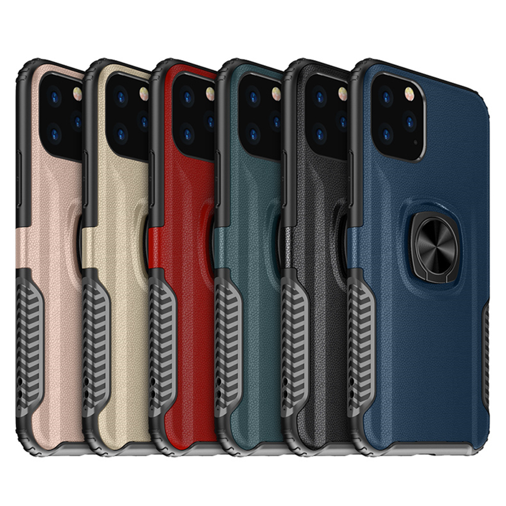 For iPhone 11 Ring Case 11 Pro Max 2019 with Car Magnetic Holder Shockproof TPU for Huawei Honor 8X <strong>P</strong> Smart Plus Back Cover