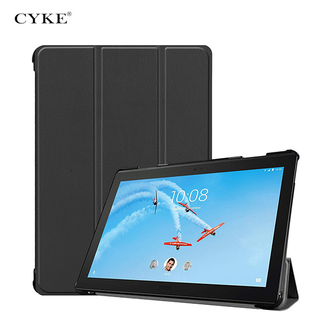 CYKE For Lenovo Tab P10 <strong>P</strong> <strong>10</strong> TB-X705 TB X705 case Ultra Thin PU Leather Smart Stand Smart Tir-folded Tablet Cover case