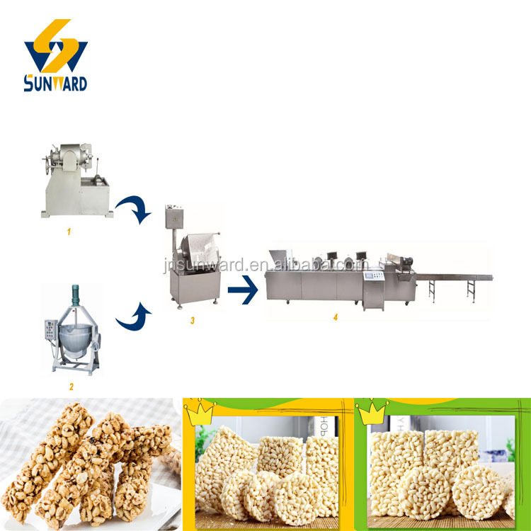 Good Quality Puffed Rice Bar Stick Snack Food Cutting Machine Plant Rice Ball Snack Food Cutting Line Equipment
