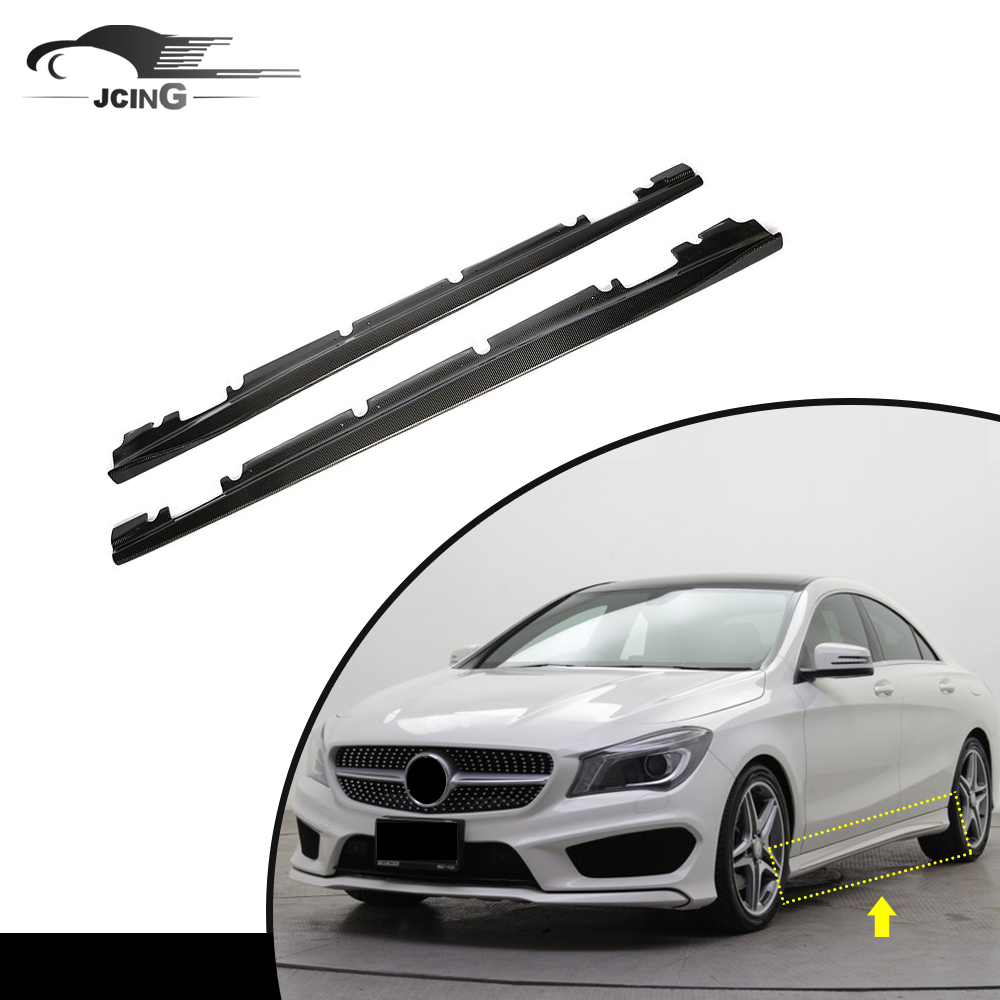 Carbon fiber auto full replacement side skirts fit for Mercedes Benz <strong>W117</strong> C117 4dr 14-15 Extension