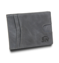 Customized PU mens leather <strong>wallet</strong> with big promotion
