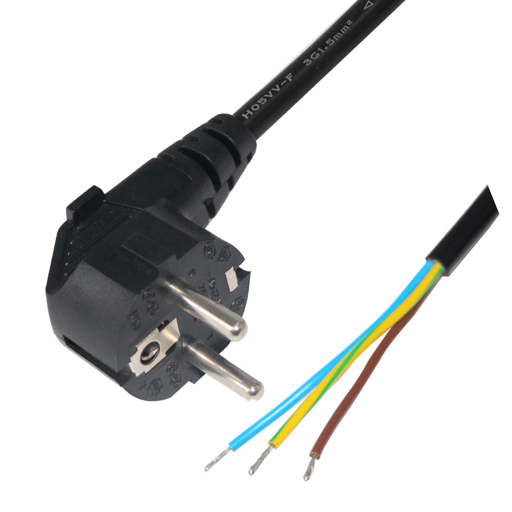 Eu Type Kema Keur European Cable <strong>H05vv</strong> F Extension Schuko Coil Power Cord With Vde 2 Pin Plug
