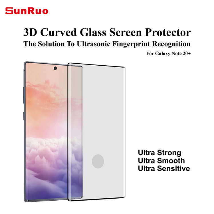 Sensitive sensor!  3D Curved Tempered Glass Screen Protector  for Samsung Note 20 Ultra/ Note 20+