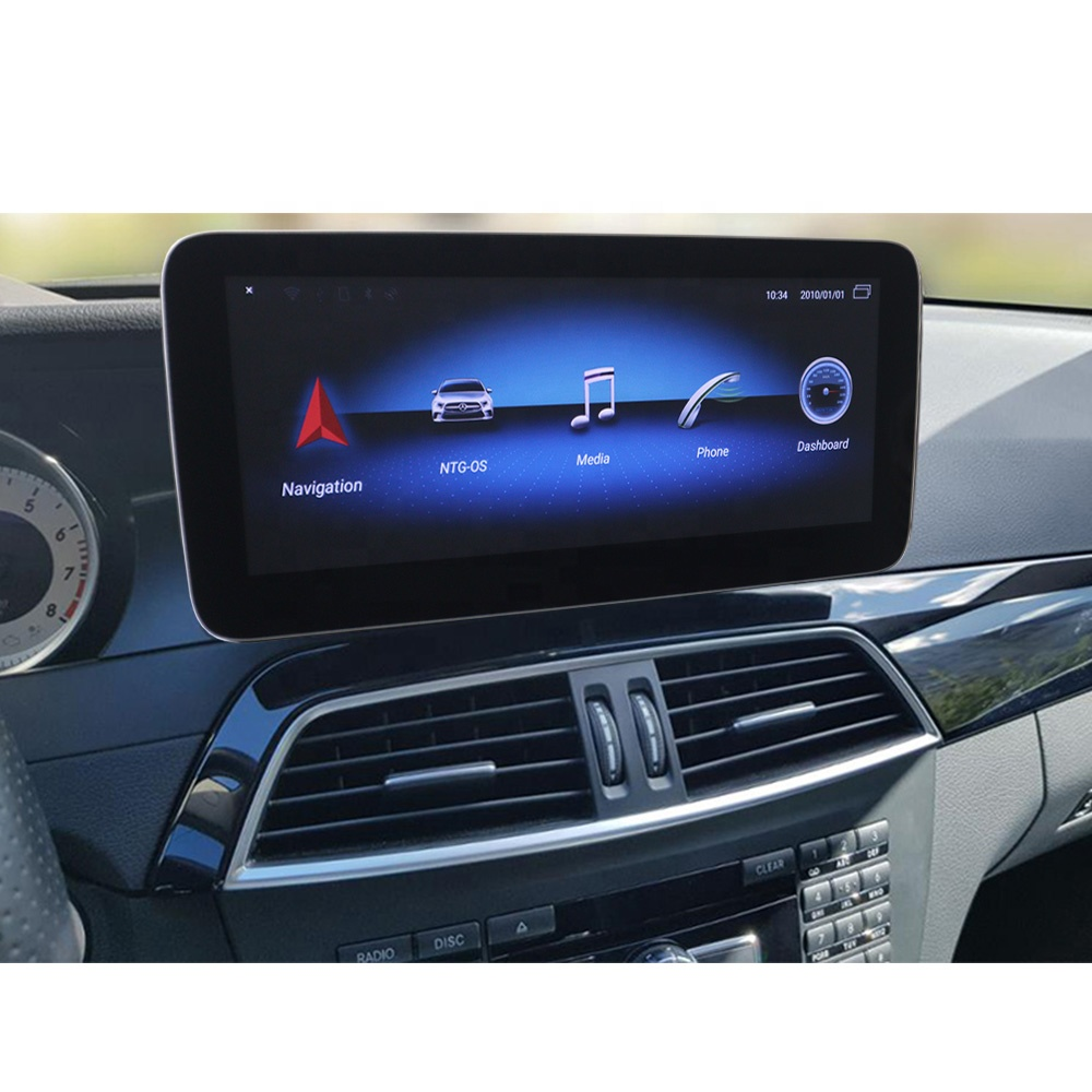 Cartrend pantalla <strong>android</strong> W204 facelift touch screen 4G RAM GPS navigation unit mercede C class multimedia W205 head unit radio