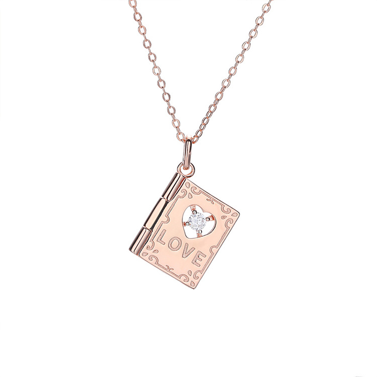 <strong>Fashion</strong> S925 sterling silver jewelry love letter necklace