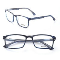LG011 Classical Square Men Computer Spectacles Anti Blue Light Blocking Eyeglasses Acetate Optical Glasses Frame
