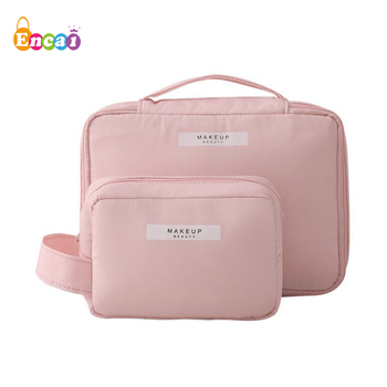 Encai Unique Pattern Handy Toiletry Bag Big Size Travel Cosmetic Bag