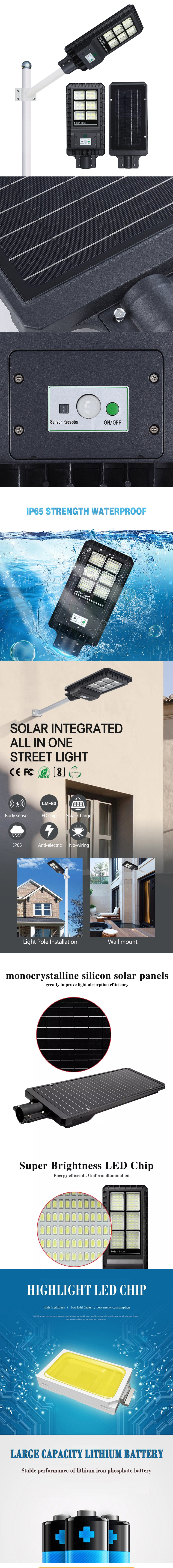 EPES180W Integrated Solar Led Street Light