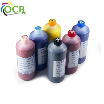 Ocbestjet 6 color x100ml latex ink,10 82 130ml refillable cartridge ,printhead cleaning tool and DHL shipping cost