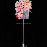 Wholesale modern able table top acrylic crystal chandelier centerpieces flower stand for weddings