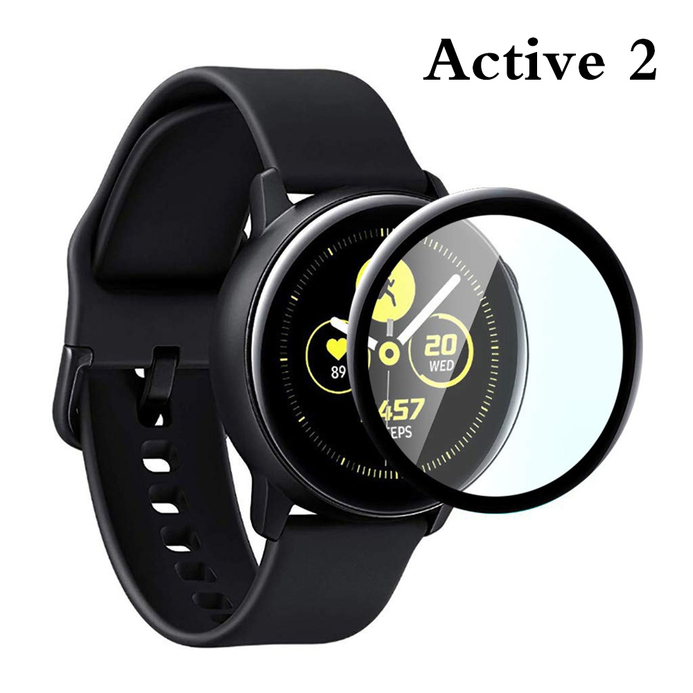 <strong>1</strong>/3PC Tempered Glass Screen Protector For Samsung Galaxy Active 2 40mm 44mm Smart watch Film Protective accessories Active2 #815