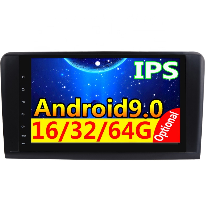 Android 9.0 4G+64G car GPS NO <strong>DVD</strong> For Mercedes Benz ML GL <strong>W164</strong> ML350 ML500 GL320 X164 ML280 GL350 GL450 navigation radio stereo