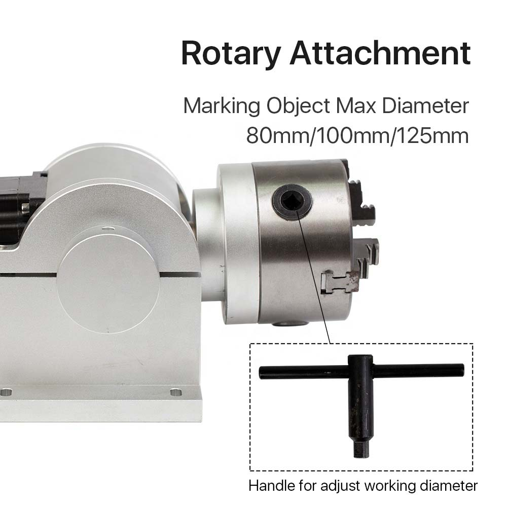 AM12 Rotary Engraving Attachment for Laser Marking Machine D80 /<strong>D100</strong> /D125