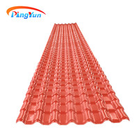 Heat insulation UV PVC roofing sheet/ASA Spanish style pvc resin roof tile/synthetic resin roof tile