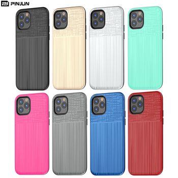 brushed texture pc tpu shock proof armor rugged phone case for iphone 11 pro case heavy duty