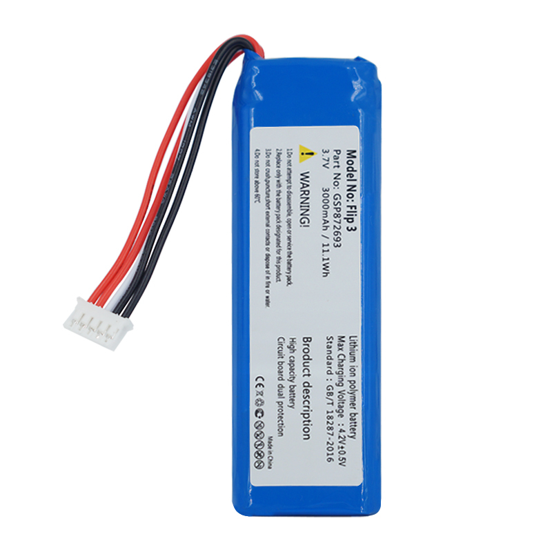 GSP872693 3.7v 3000mah battery For JBL Flip 3 Flip 3 GRAY GSP872693 P763098 <strong>03</strong>
