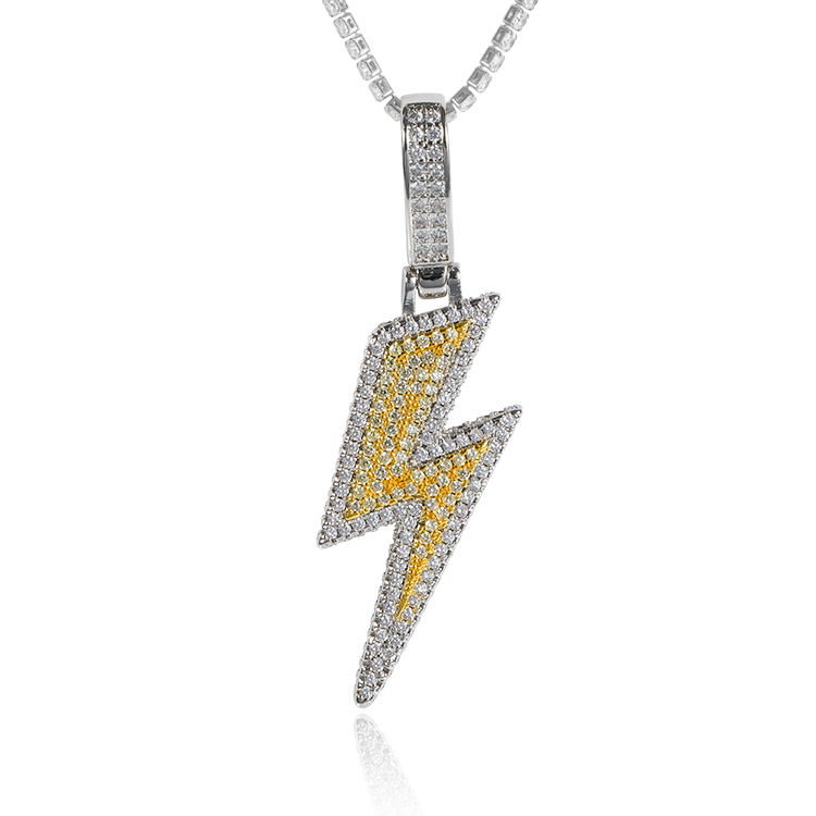 2019 New Arrival HipHop Jewelry Full Iced Out The Flash Pendant Mens Lighting Design <strong>Charm</strong> Pendants