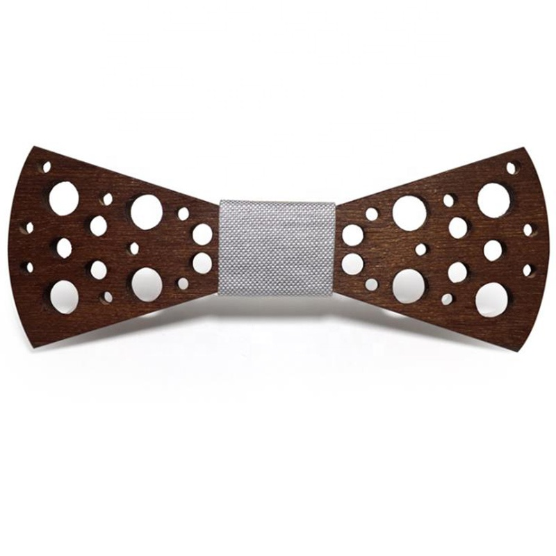latest fashion hollow carved cut colorful adjustable wooden bow tie for <strong>men</strong>