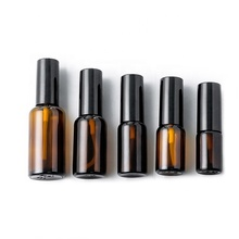 10ml15ml 20ml 30ml 50ml round amber <strong>glass</strong> spray bottle with pump spray
