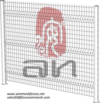 ISO 9001 PVC Coated Welded 3D Cheap Fence Panels cheap mesh security fence panels