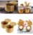 100% Natural Bamboo Round Tea Salt and Spice Box with Lid