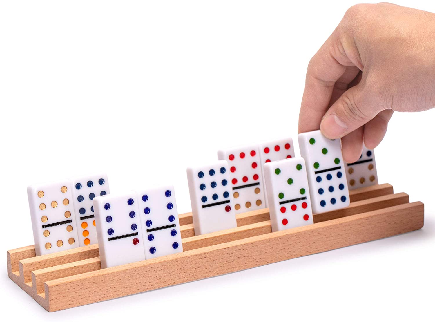 double six dominoes and wooden colorful domino set with wooden box and 28 pcs domino game set