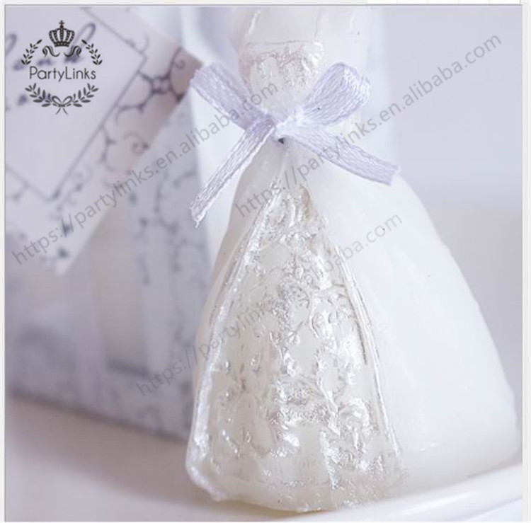 wedding decoration bride dress candle favor wedding gifts for guest wedding Party souvenirs