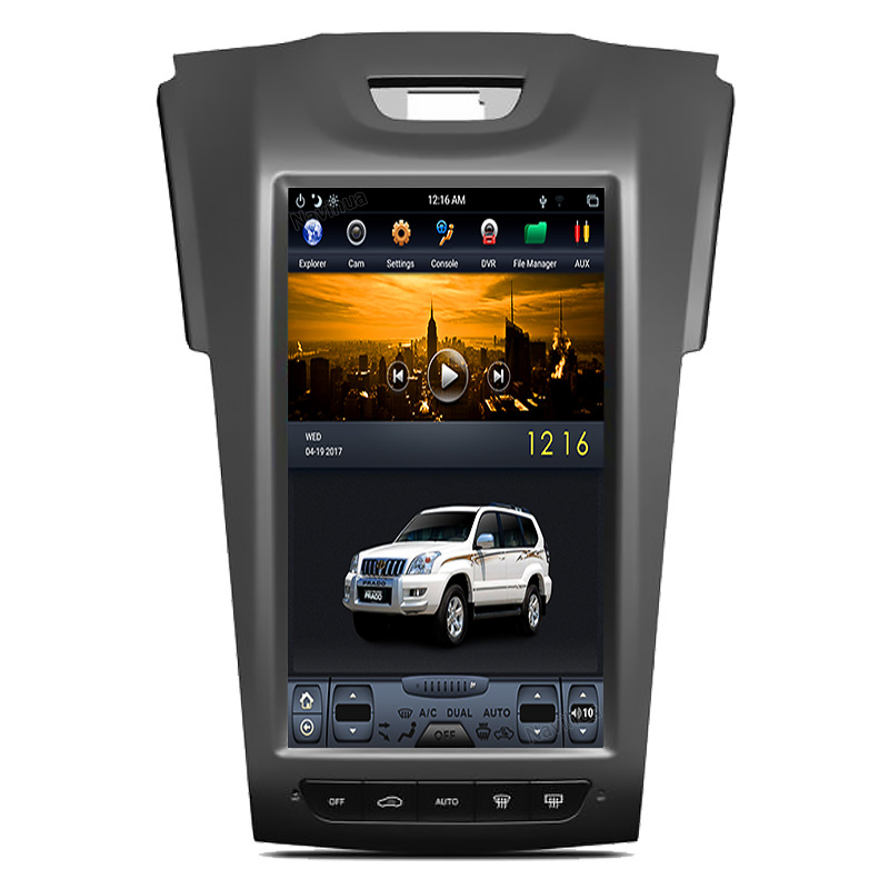 NaviHua Android Car Radio For Isuzu <strong>D</strong>-MAX DMAX S10 Tesla Style Vertical Screen with GPS Navigation Multimedia stereo dvd player