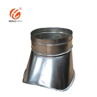 HVAC system air duct accessories ventilation galvanized saddle spiral duct fittings