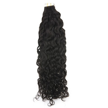 wholesale price Natural Wave Tape in Hair Extension for black women Adhesive skin hair weft Black Color kenya shop online