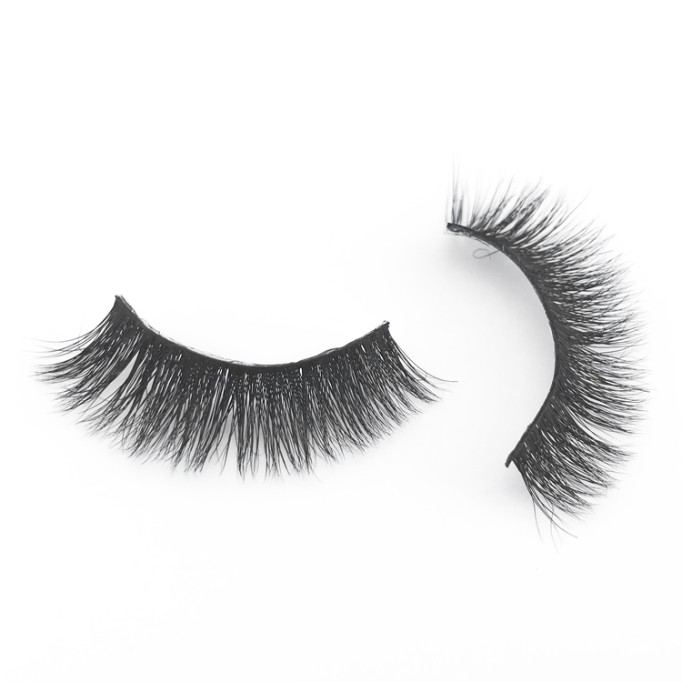 Makeup Products Popular 100% Handmade Black Cotton Thin Band Reusable Real Mink False Eye Lashes 3D Mink Eyelashes <strong>A08</strong>