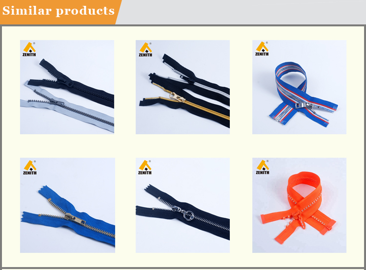 5# Fashion Metal Zipper with Multicolor Tape ZM10002