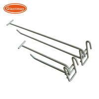 Giantmay Chrome Metal Wire Mesh Rack Hook Price Tag Holder Display Panel Wall Wire Hooks