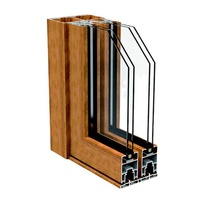 Extruded Profiles For Two-Layer Insulating Glass Aluminium Doors Windows Frame