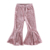 Baby Girls Wearing Bell Pants Floral Kids Loose Pants Flared Bell Bottom Pants