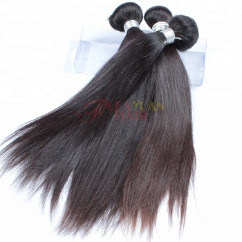 Pure human hair straight from one donor hand tied European weft in Guangzhou beauty exchange center