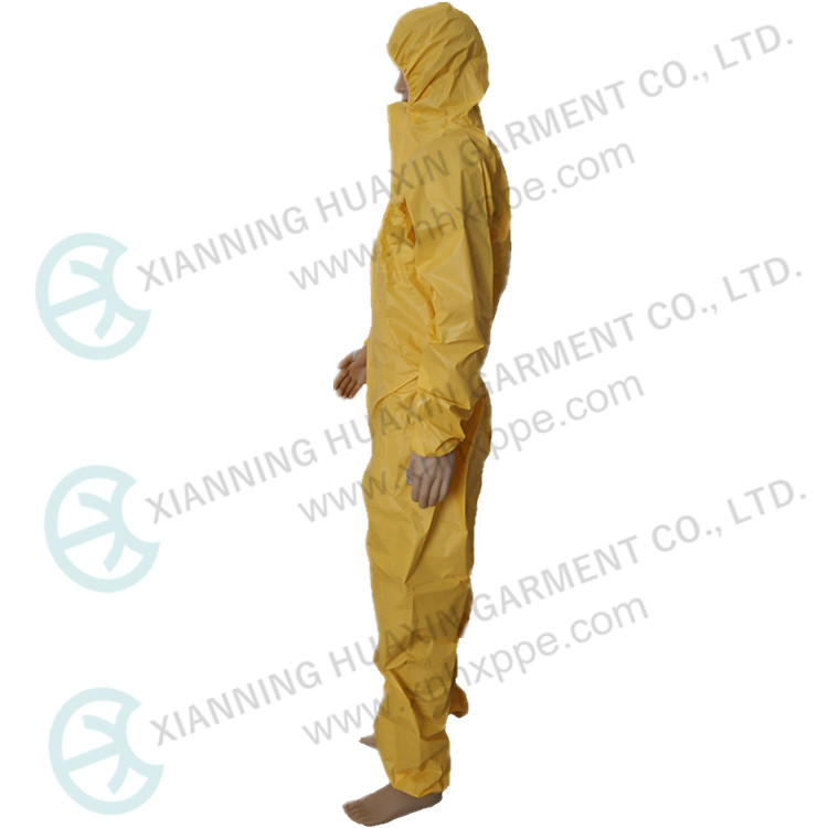 TYPE3 EN14126 Chemical Waterproof Work Suit Microporous Coverall