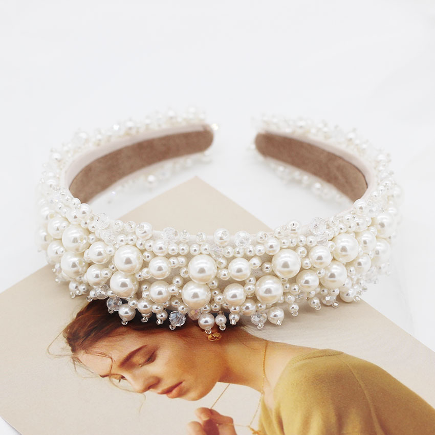2020 New Trend Luxury Pearl Headband For Elegant Women Fashion Vintage Pearl Beaded Girls <strong>Hair</strong> <strong>Accessories</strong>