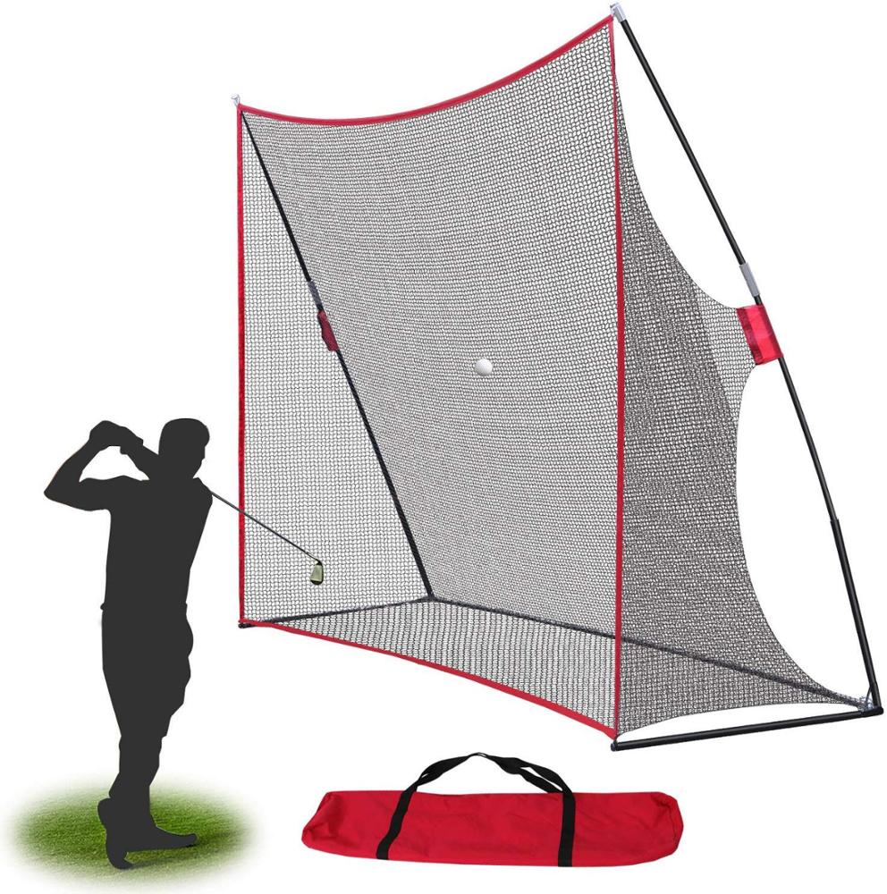 Portable indoor swing hitting driving training chipping practice golf net