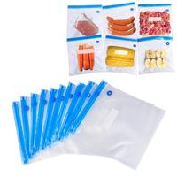 Reusable Sous Vide Bag Kit FDA and BPA FREE with Upgrade Vacuum Hand Pump Sealing Clips and Sous Vide Cooking Clips
