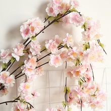 Artificial Flowers Silk Cherry Blossom Branch <strong>Sakura</strong> For Wedding Decoration