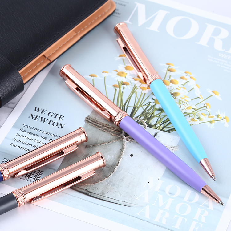 2020 stylo à bille en métal avec pinces disponible OEM marque logo pour cadeau ou souvenir - ANKUX Tech Co., Ltd