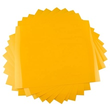 <strong>China</strong> manufacturer 10 sheets yellow 12 inch <strong>x10</strong> inch PU matte custom heat transfer vinyl sheet for clothing