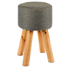 factory hot wholesale high quality wholesale child wood stool wood leg ottoman for living room <strong>furniture</strong>